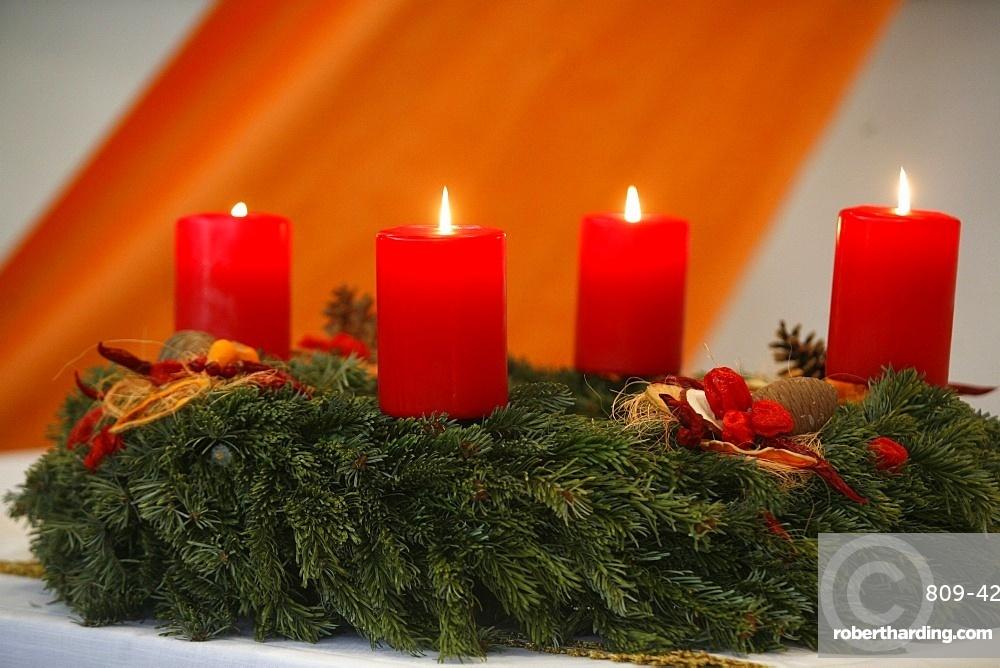 Advent candles, Geneva, Switzerland, Europe