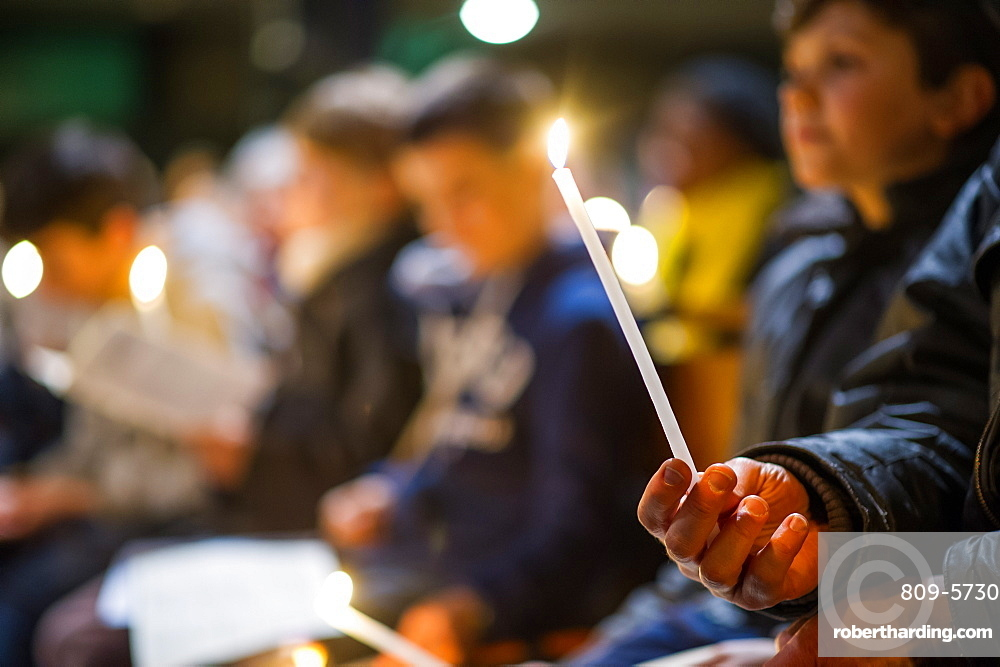 Vigil on Holy Saturday of Holy Week, Paris, France, Europe