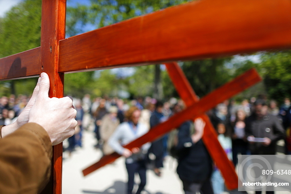 Way of the Cross, Holy Week, Paris, France, Europe