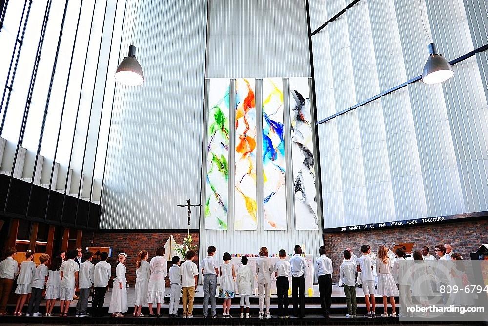 Catholic Mass, Paris, France, Europe