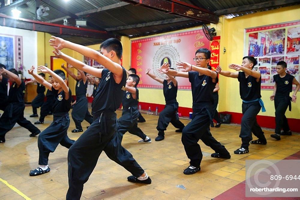 Boys practising martial arts, Ho Chi Minh City, Vietnam, Indochina, Southeast Asia, Asia