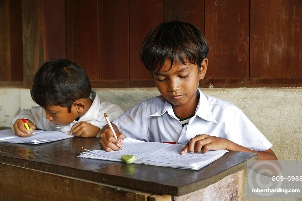 Arrupe Karuna Krom outreach program run by the Catholic Church (Jesuits), a rural school, Battambang, Cambodia, Indochina, Southeast Asia, Asia