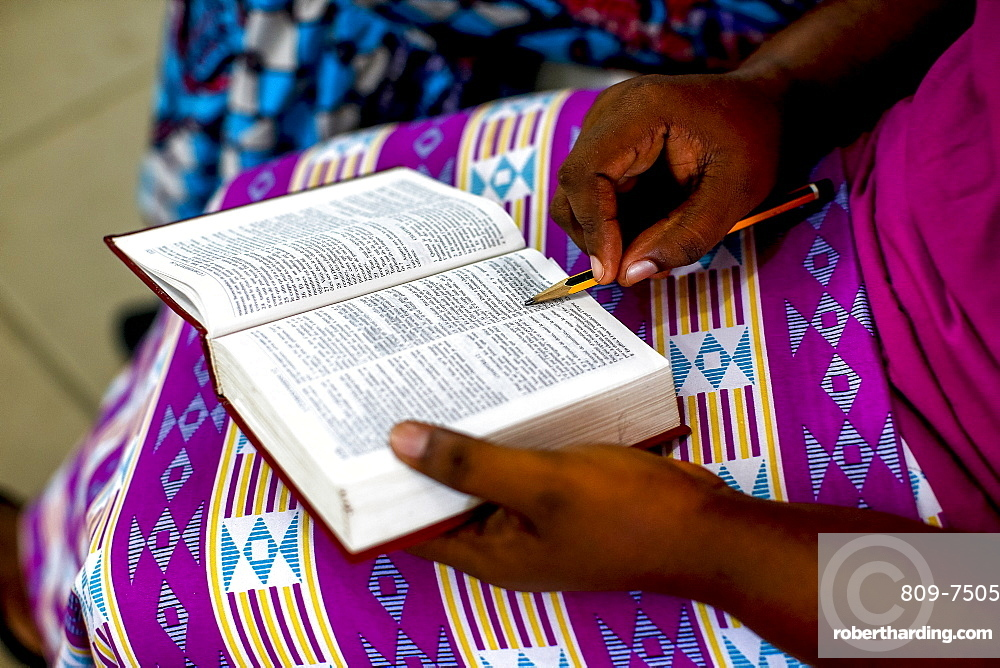 Sunday service at MEIA Evangelical Church, Grand Bassam, Ivory Coast, West Africa, Africa