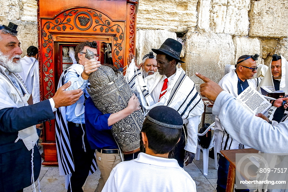Bar Mitzvah at the Western Wall, Jerusalem, Israel, Middle East