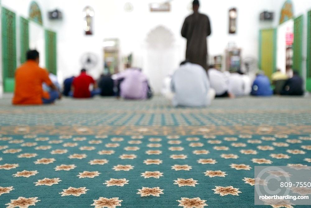 Muslims praying in the Saigon Central Mosque, Salat, Ho Chi Minh City (Saigon), Vietnam, Indochina, Southeast Asia, Asia