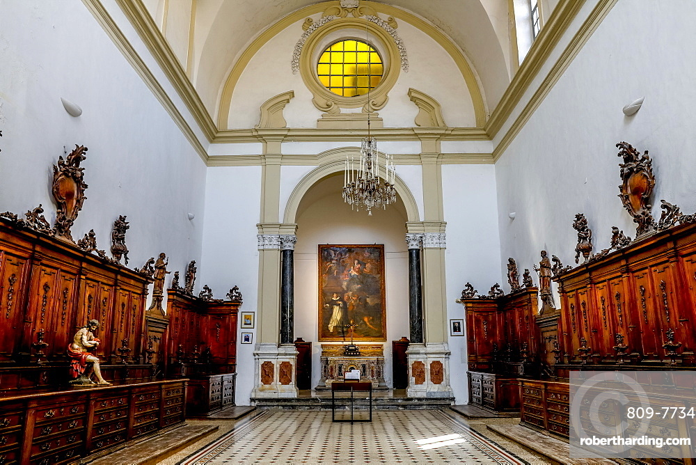 Sacristy built in 1720 by Dominican architect G.B. Ondars, San Domenico Church Sacristy, Palermo, Sicily, Italy, Europe