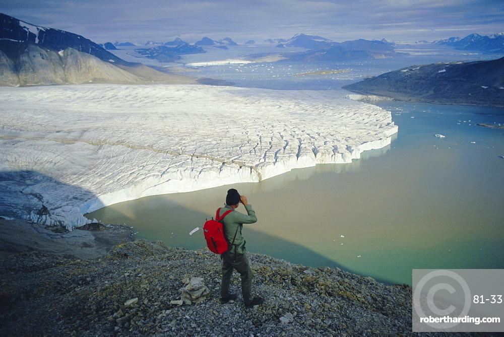 Blomstrand Glacier, Spitsbergen, Svalbard, Norway, Scandinavia, Europe