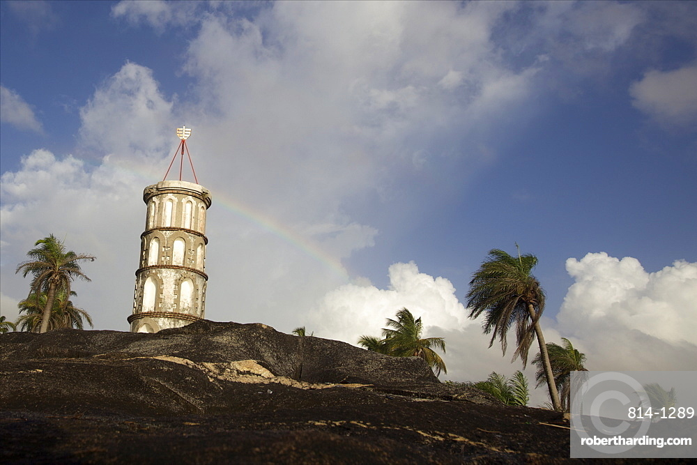 The Dreyfus tower in Kuru, French Guiana, South America