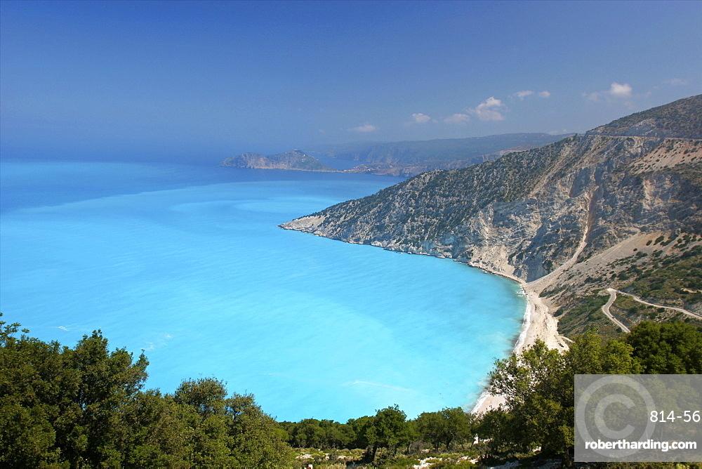 The Assos peninsula on Cephalonia, Ionian Islands, Greek Islands, Greece, Europe