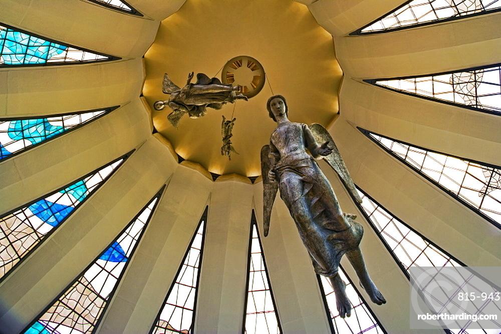 Metropolitan Cathedral (Catedral Metropolitana de Brasília), architect Oscar Niemeyer, Brasilia, UNESCO World Heritage Site, Brazil, South America