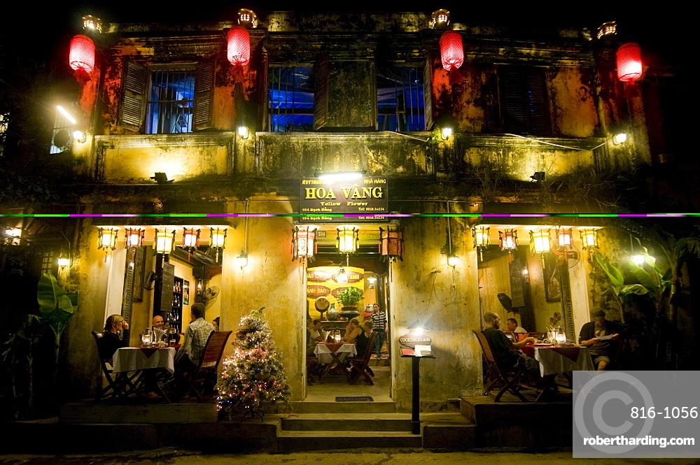 Night shot of colonial houses, Hoi An, Vietnam, Indochina, Southeast Asia, Asoa