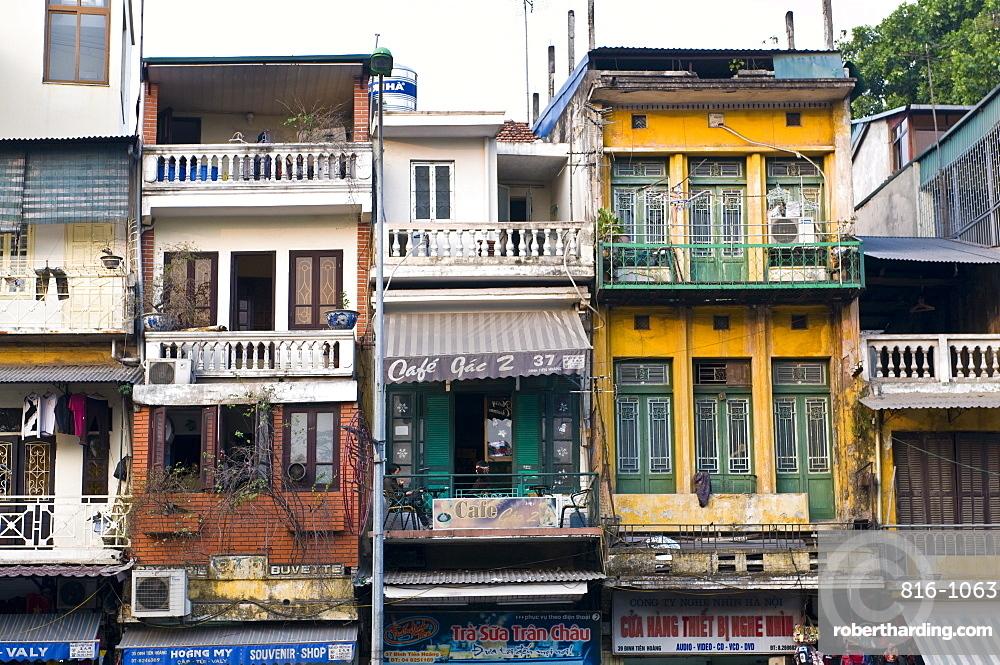 Traditional houses, Hanoi, Vietnam, Indochina, Southeast Asia, Asia