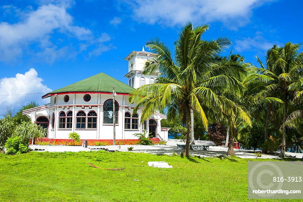 Little church in Tau Island, Manua Island group, American Samoa, South Pacific, Pacific