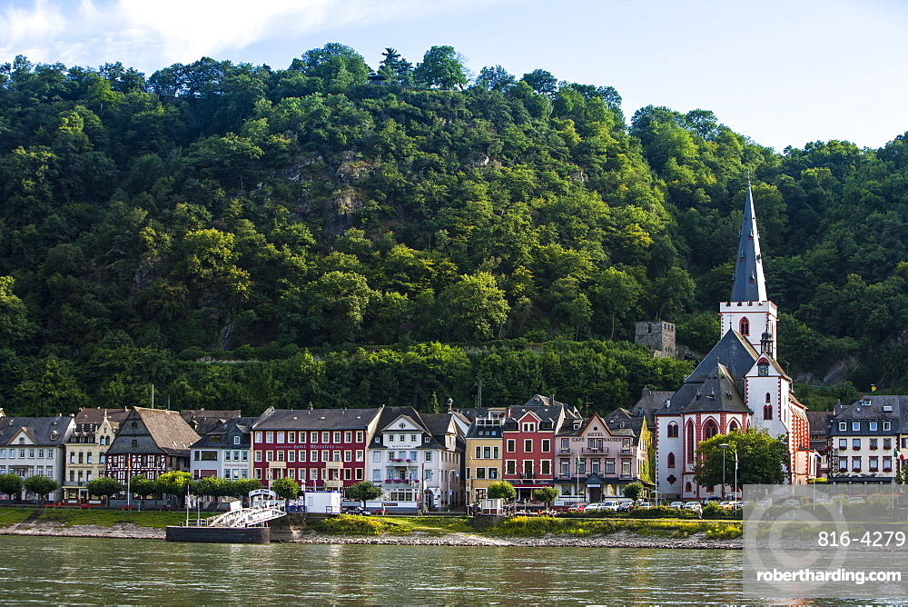 Village of Bacharach in the Rhine valley, Rhineland-Palatinate, Germany, Europe
