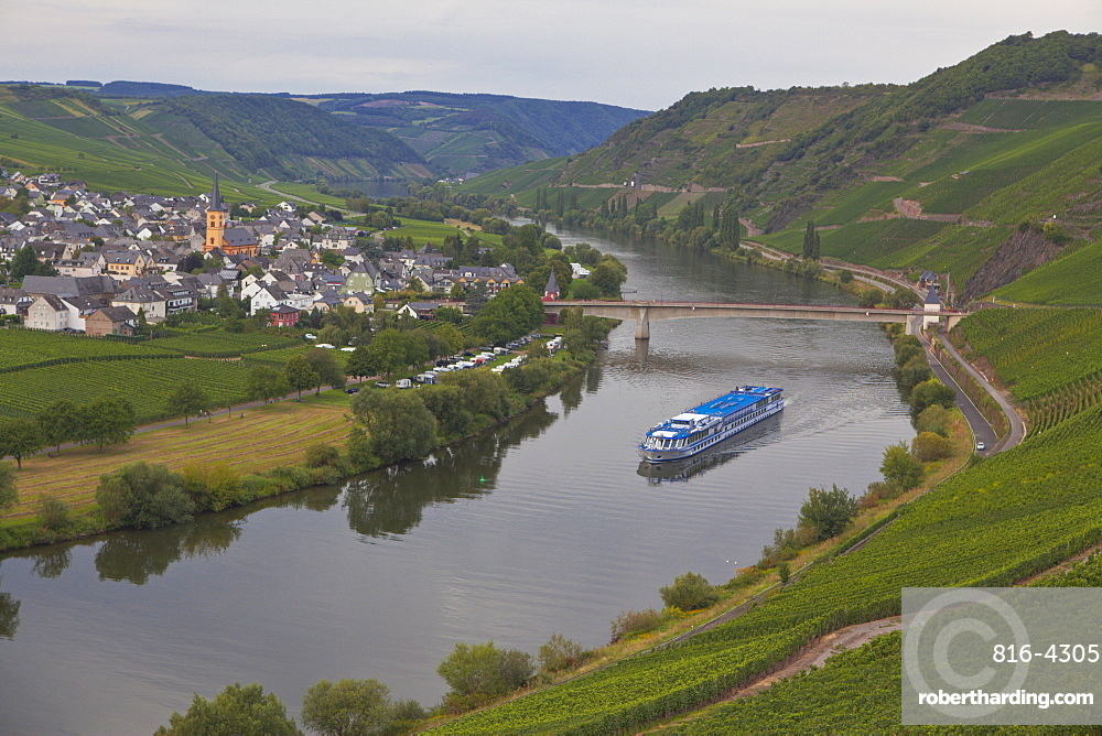 River cruise ship on the River Moselle, Germany, Europe