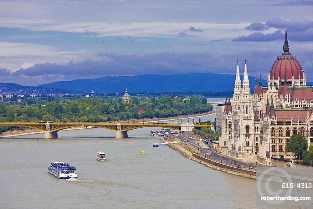 Parliament near the River Danube, Budapest, Hungary, Europe