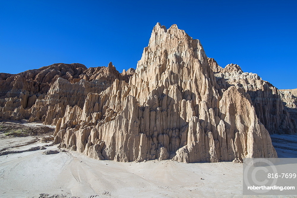 Sandstone formations in the Cathedral Gorge State Park, Nevada, United States of America, North America