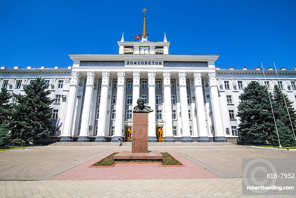 The Palace of the Soviets, Tiraspol, capital of the Republic of Transnistria, Moldova, Europe