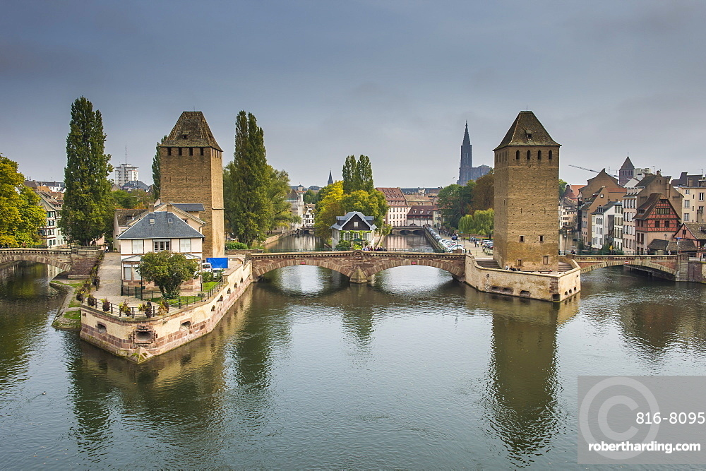 Ponts Couverts, UNESCO World Heritage Site, Ill River, Strasbourg, Alsace, France, Europe