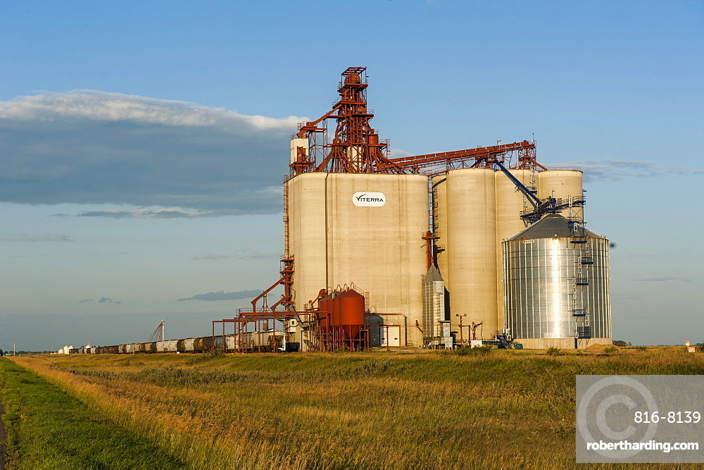Giant mill in Saskatchewan, Canada, North America