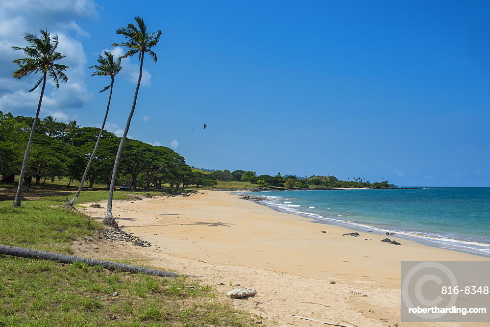 Beach of Praia dos Governadores, Sao Tome, Sao Tome and Principe, Atlantic Ocean, Africa