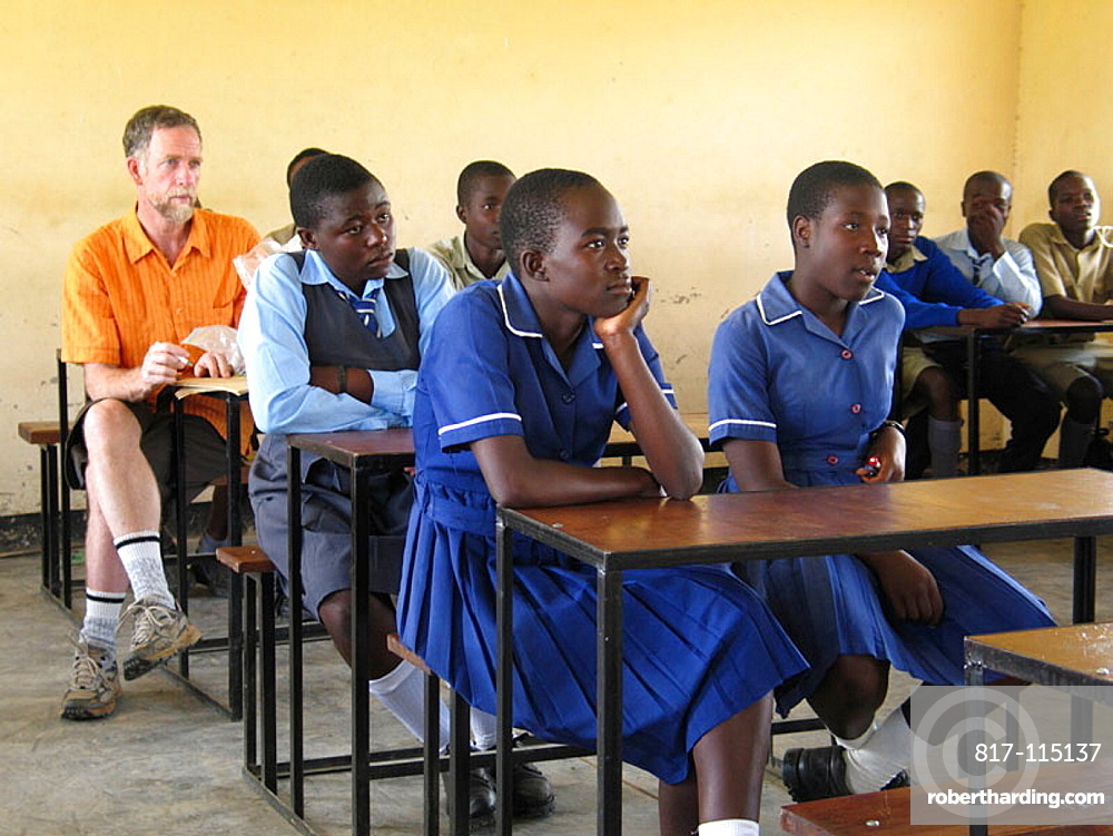 Canadian volunteer psychotherapist at the Howard Hospital in Zimbabwe, He makes frequent visits to nearby Nyachuru High School AIDS Club where he, along with a friend, makes several presentations