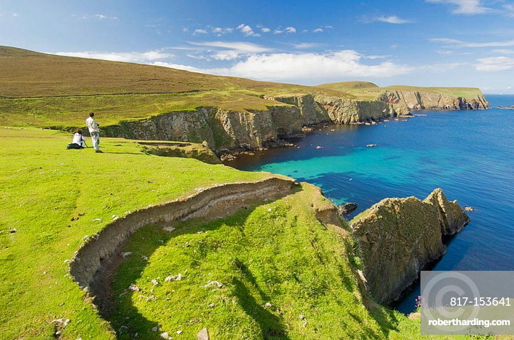 Northern cliffs of Fair isle, Shetland, UK