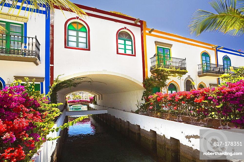 Canal en el Puerto de Mogan Gran Canaria Islas Canarias Espana