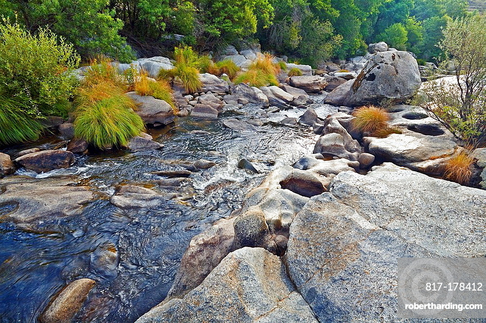Pozas en el rio Alberche Burgohondo avila Espana