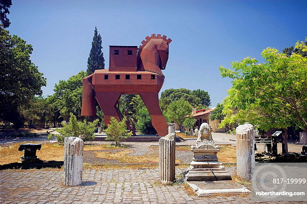 Trojan Horse, ruins of ancient Troy, Turkey