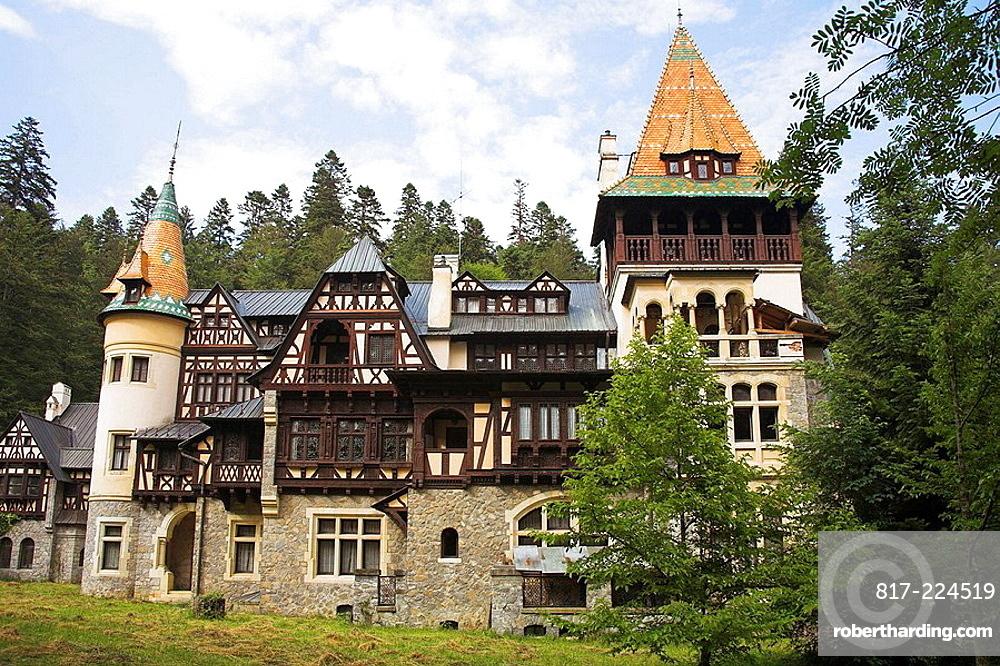 Pelisor Palace, Sinaia, Prahova Valley, Transylvania, Romania