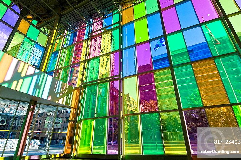 Coloured Glass Facade Of Convention Stock Photo