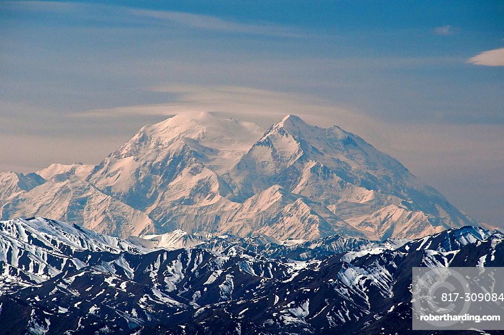 Mount McKinley, Denali National Park, Alaska, North America, USA, mountains, landscape, snow. Mount McKinley, Denali National Park, Alaska, North America, USA, mountains, landscape, snow