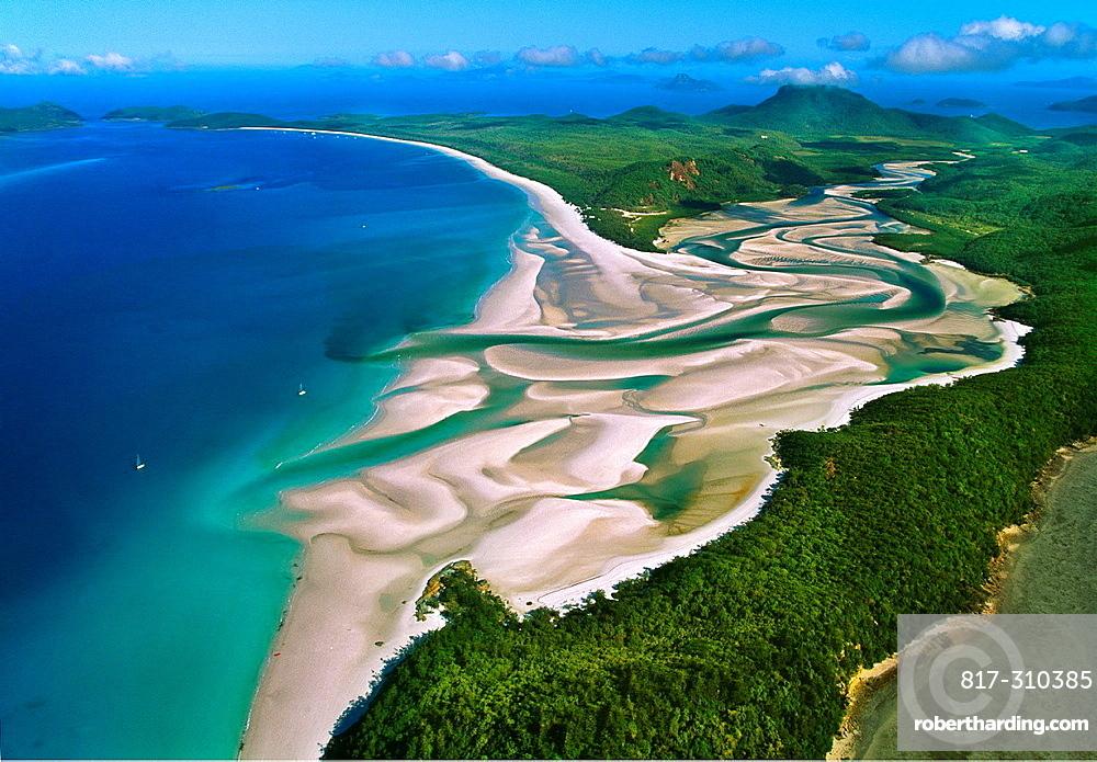 Whitehaven Beach.Whitesunday Islands. Great Barrier Reef. Australia.