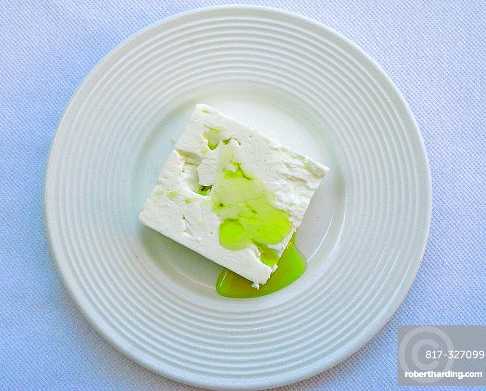 Greek Cuisine  Feta Cheese and Olive Oil