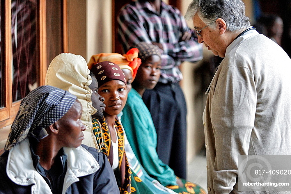AIDSAcquired immune deficiency syndrome ills with religious woman, Chalucuane  Mozambique