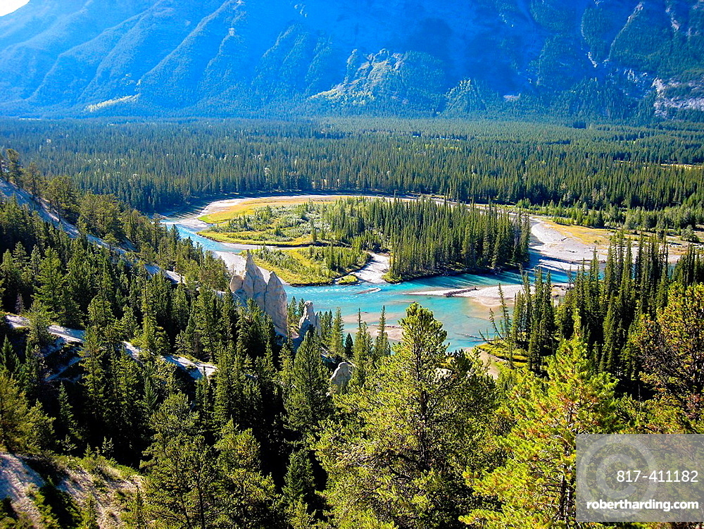 Bow River Banff Banff National Park Rocky Mountains Alberta Canada.