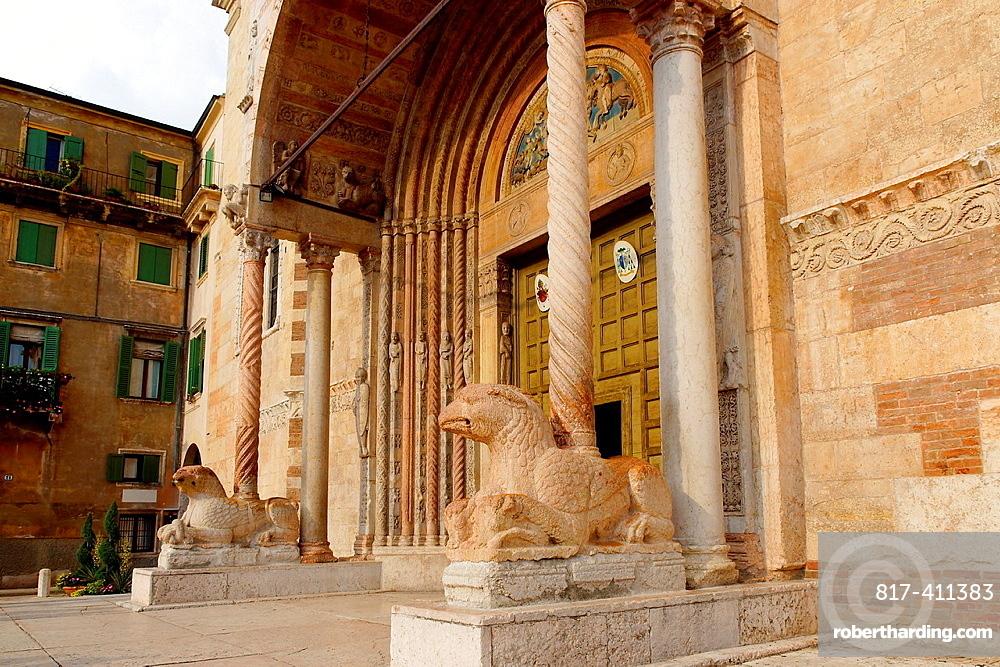 Verona Italy Exterior of the Duomo of Verona