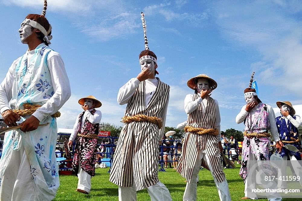 Uruma City, Okinawa, Japan, Eisa whistling-dances