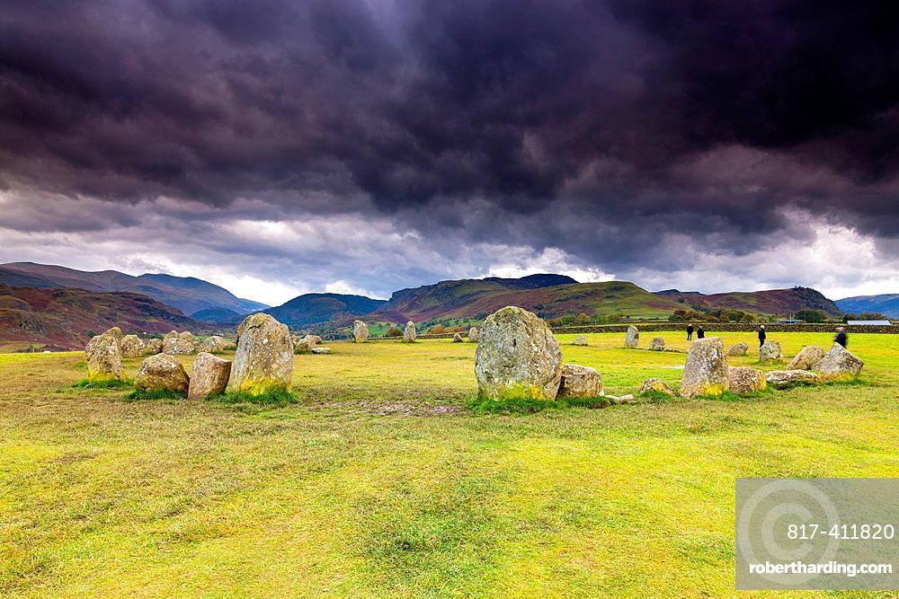 Castlerigg Stone Circle in the Lake District National Park, Keswick, Cumbria, England, UK, Europe