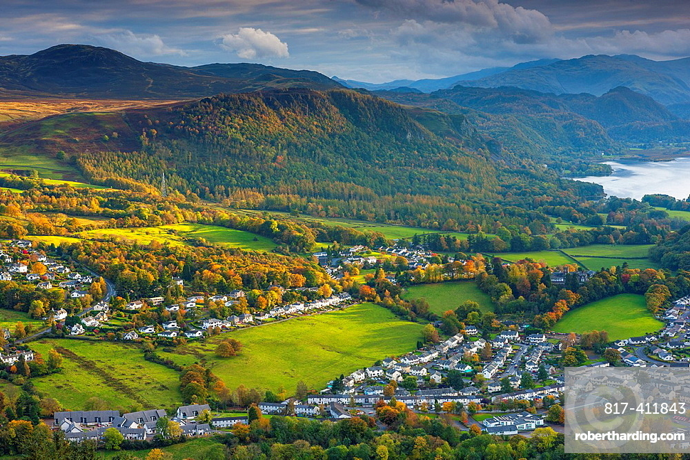 View from Latrigg summit towards Castlerigg Fell, Lake District National Park, Cumbria, England, UK, Europe