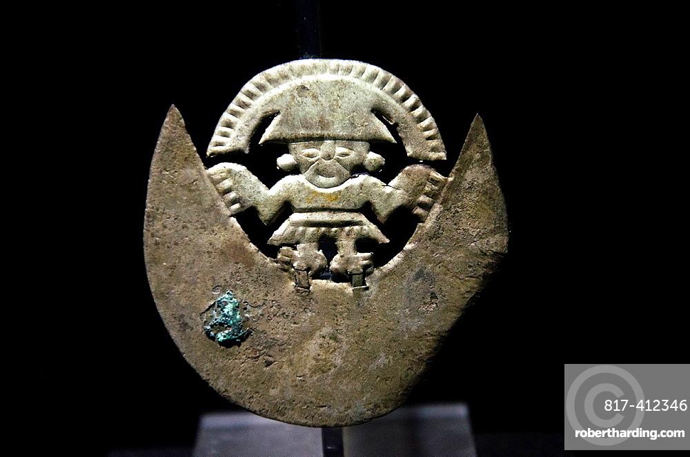 Pre-Columbian Jewelry Moche culture 100 AC-800 AC Peru, ceremonial knife