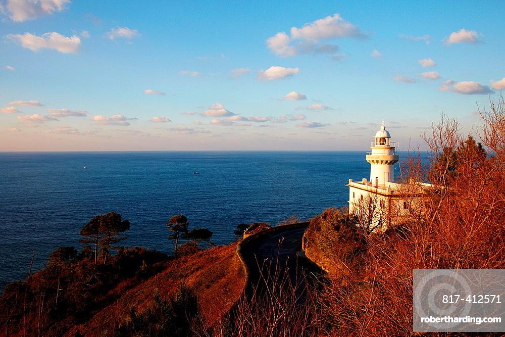 Lighthouse Igeldo, Donostia, San Sebastian, Gipuzkoa, Basque Country, Spain.
