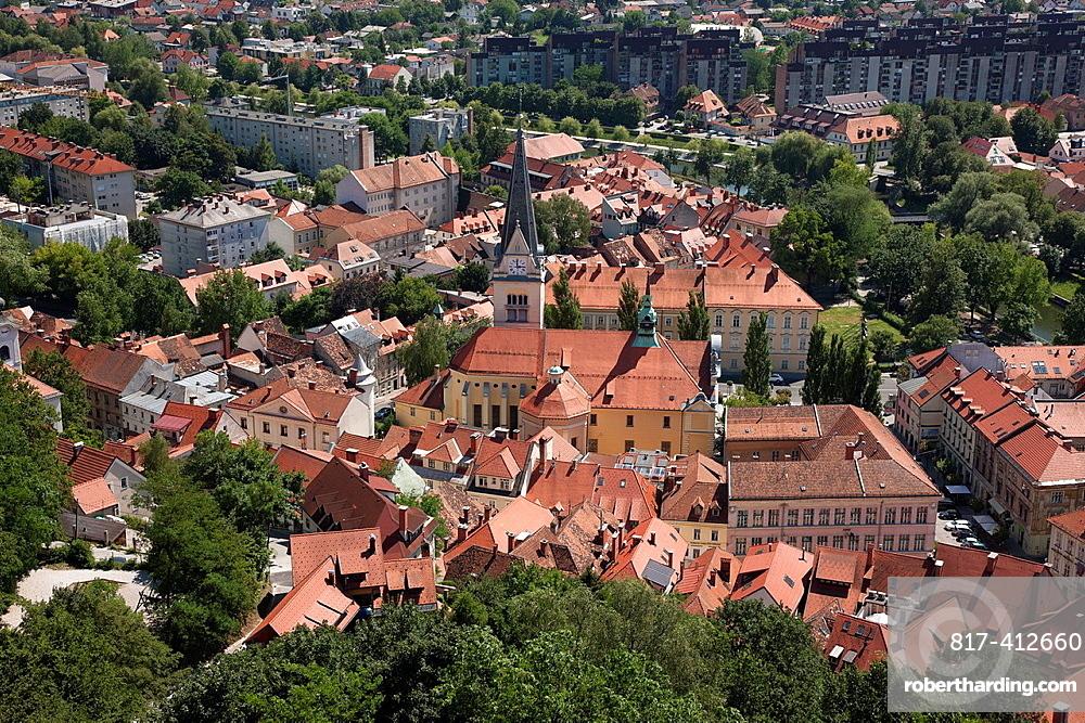 Slovenia Ljubljana The Old Town.