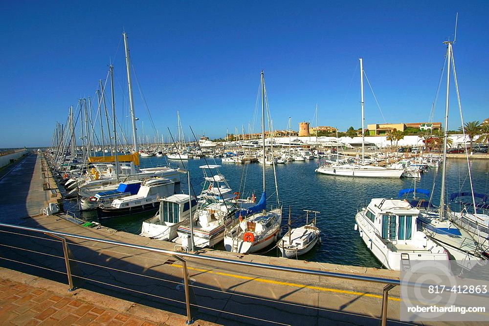 Port of Sa Sa Rapita, Tower Rapita sixteenth century Spain Baleares Mallorca Campos Migjorn