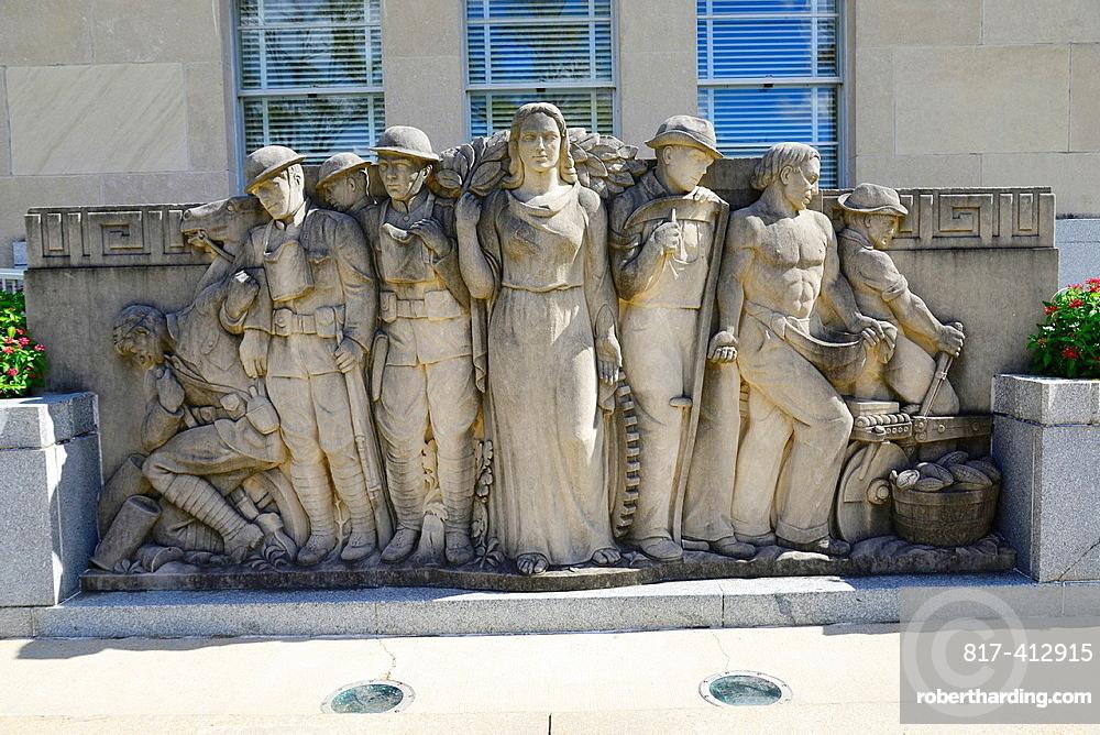 Sculpture Mississippi War Memorial BuildingJacksoi MS US