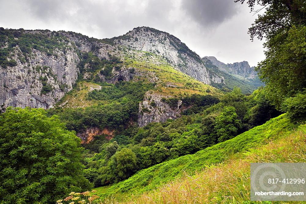 The Minas cliff in Ramales de la Victoria Santander Cantabria Spain