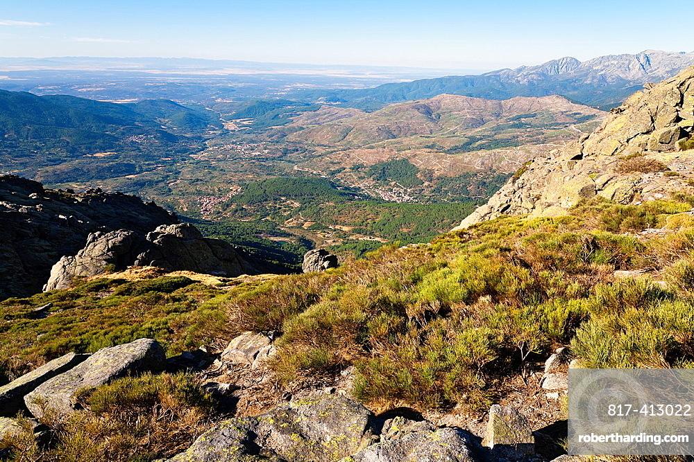 The Five Villages Valley from the Torozo peak Sierra de Gredos avila Castilla Leon Spain