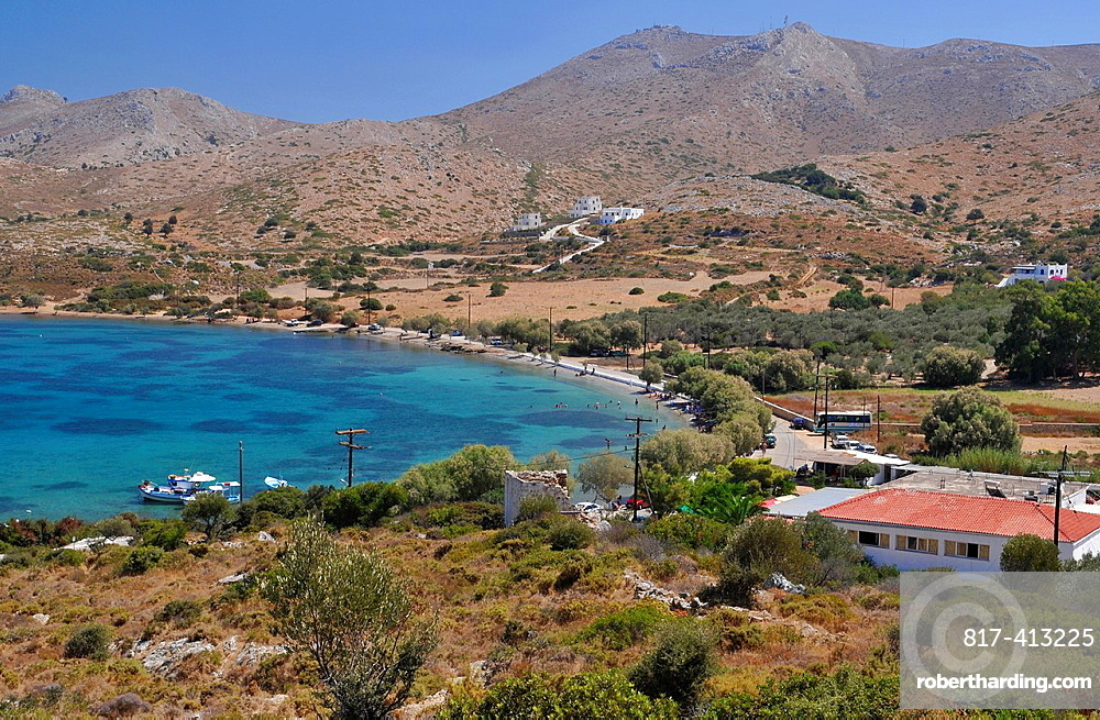 Partheni bay and beach, Leros Island, Greece