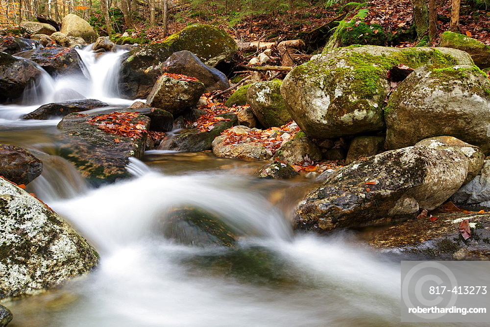 Talford Brook during the autumn months in Thornton, New Hampshire, United States of America